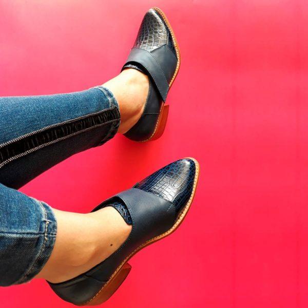 zapato topacio de cuero