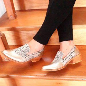 zapato de cuero mujer snake