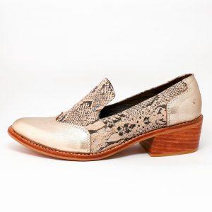 zapatos de cuero mujer snake