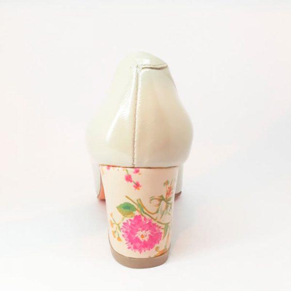 zapatos de cuero mujer marfil