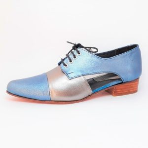 zapato oxford blue