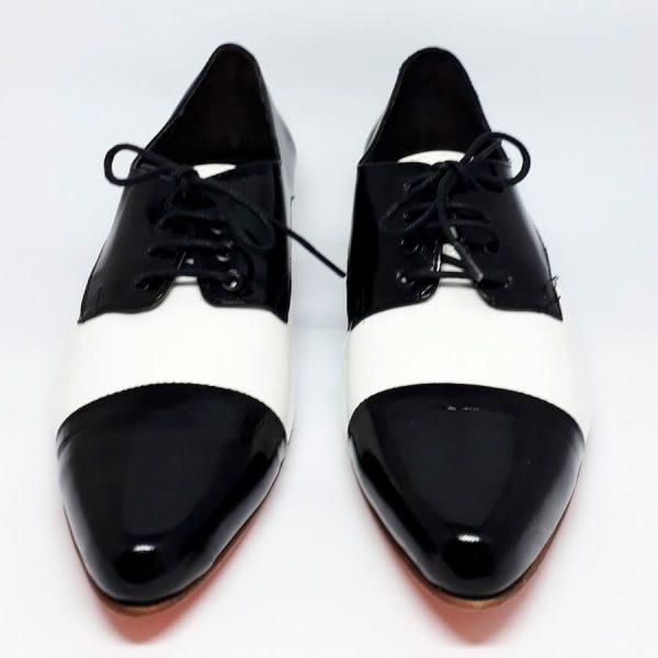 zapato oxford white